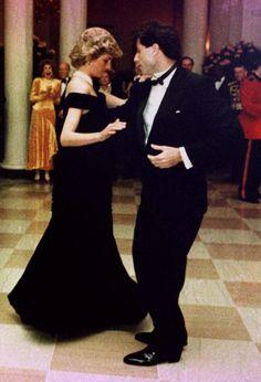 Princess Diana November 9, 1985 White House dinner with actor John Travolta