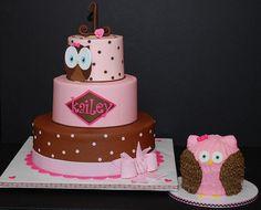 owl girl birthday cakes - Google Search