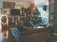 Christmas in my boho home.