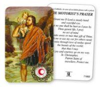 Saint Christopher Prayer Card with Relic. St Christopher Prayer, Catholic Prayers, Prayer Cards, St Francis, Christian Gifts, All Saints, Occult, All Saints Day, Supernatural