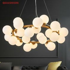 Magic Bean Modern LED Pendant Chandelier Lights For Living Room Dining Room G4 Gold /Black White Glass Chandelier Lamp Fixtures-in Pendant Lights from Lights & Lighting on Aliexpress.com | Alibaba Group