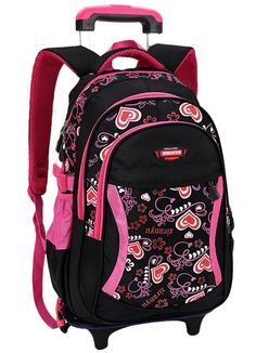 Shop a great selection of COOFIT Rolling Backpack Cute School Backpack Kids Backpack With Wheels Black. Find new offer and Similar products for COOFIT Rolling Backpack Cute School Backpack Kids Backpack With Wheels Black. Girls Rolling Backpack, Rolling Bag, School Bags For Girls, Girls Bags, Girl Backpacks, School Backpacks, Wheeled Backpacks, Kids Luggage, Shopping