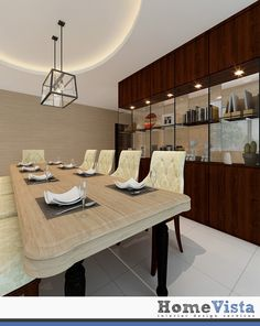 A Rounded Cove With Hanging Pendant Light Over Your Dining Table To Illuminate The