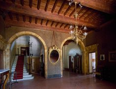 AKG-imágenes -Entrance hall of Villa Puccini, first residence of Giacomo Puccini, in Chiatri, Tuscany, Italy.