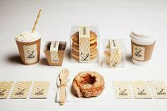 Zealous Zigzag Merchandizing - Provo Bakery Branding Incorporates an Energizing Motif for its Treats (GALLERY)