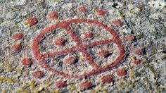Stone Carving Of A Scandinavian Bronze Age Sun Symbol, The Sun ...