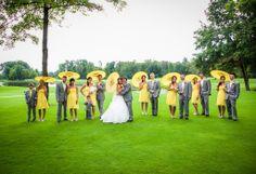 Yellow parasols wedding