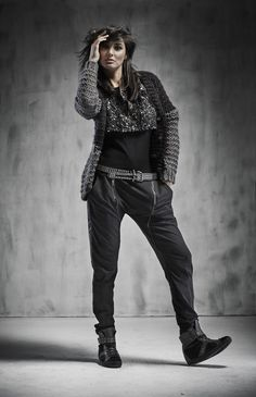 Knit cardigan in mohair blend Fall Winter, Autumn, Stay Warm, Knit Cardigan, Fashion Beauty, Leather Pants, Fashion Accessories, Punk, Street Style