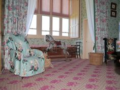 The Nursery Suite at Audley End House, Essex - carpet design from Brintons archive Commercial Design, House, Interior, Carpet Design, Nursery, Home Decor, House Interior, Suite, Bedroom