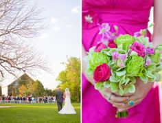 Lime Green And Pink Wedding | Eliza-'s blog: hot pink wedding dress