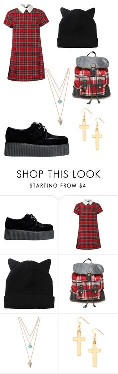 """""""Nina"""" by badgirlssmokeweed ❤ liked on Polyvore featuring beauty, Monki, LA: Hearts and With Love From CA"""