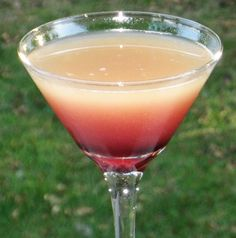 Valentine cocktail: French Vanilla Martini - Vanilla Vodka, Chambord and pineapple juice