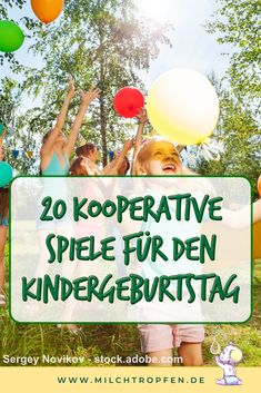 Here I present you 20 cooperative games for the children's birthday without losing … – Kindergeburtstag: Deko, Rezepte, Spielideen, Einladungskarten – birthday Birthday Games, Birthday Parties, Balloon Party Games, People Having Fun, Diy Crafts To Do, Maila, Games For Kids, Kids And Parenting, Have Fun