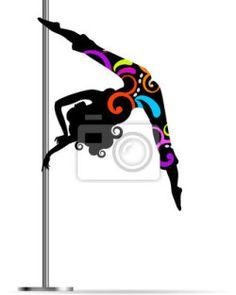 Fotomural pole dance - mujer - deporte - figura • PIXERS.es