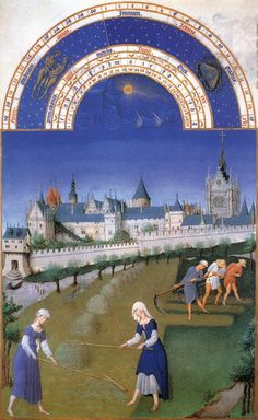 FLEMISH MINIATURES - LIMBOURG BROTHERS  < Les Tres Riches Heures du Duc de Berry> (1380-1420) - June