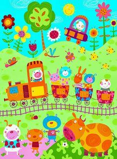 corinne bittler delaunay Drawing For Kids, Art For Kids, Art Fantaisiste, Ladybug Crafts, Cartoon Pics, Preschool Art, Applique Patterns, Whimsical Art, Cute Illustration