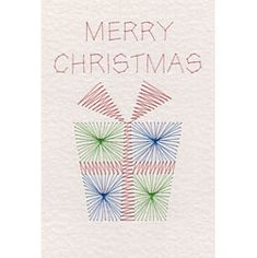 Merry Christmas Present   Christmas patterns at Stitching Cards.