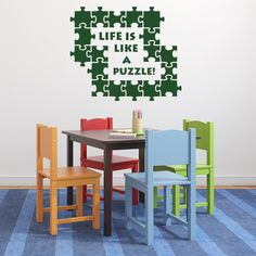 Style and Apply Puzzle Wall Decal Art Home Decor ( 16in x 13in)