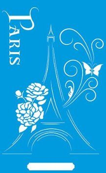 ... Decorations Drawing Drafting Template - France Paris Eiffel Tower Tour
