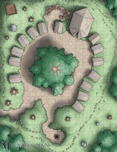 [OC] Ran a one-shot where players hunted down a group of bandits. Here's where they finally found them: : DnD