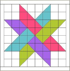 """Hidden Star Retreat Logo- gotta try this with 10"""" scrappy squares (80"""" x 80"""" quilt)!"""