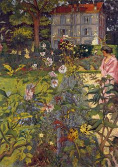 Edouard Vuillard (French, 1868–1940) Garden at Vaucresson, 1920; reworked 1926, 1935, 1936  The Metropolitan Museum of Art, New York, Catharine Lorillard Wolfe Collection, Wolfe Fund, 1952,