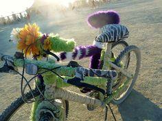 Burning Man bike art.
