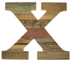 Cypress Barnwood Letter X   These Paul Michael Company Exclusive pieces are designed and made by hand in our Dermott, AR woodshop.