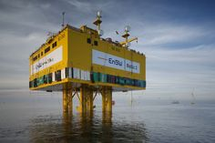 EnBW's substation topside at the 288MW Baltic 2 offshore wind farm some 32km off the German island of Rugen. Built by German fabricator, WeserWind, the 4400-tonne unit was loaded out by the Abu Dhabi Mar shipyard in Kiel and towed by tugs to Sassnitz ahead of deployment (Courtesy EnBW).