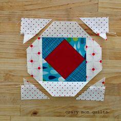 madre loca edredones: cómo hacer un bloque de piña (sin juntar las piezas de papel!)