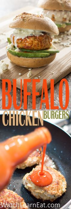 If you love Buffalo wings, you'll love these Buffalo Chicken Burgers. Traditional Buffalo wing accompaniments, such as celery and carrots, are packed right inside. Top with blue cheese dressing for a perfect flavor combination.