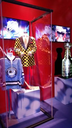 Something everyone who is a Hockey in Canada Fan will recognize - one of Don Cherry's signature suit jackets, along with a retro Hockey Night in Canada Jersey. Don Cherry, I Am Canadian, Suit Jackets, Open House, Hockey, Projects To Try, Canada, Fan, Night