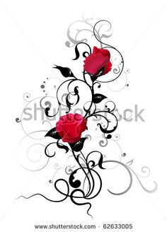 rose with floral element