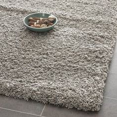 Shag  Flokati Rug  Shag Polypropylene PileWeight Is 3700GrM2Pile Height 5CmBacking Is JutePolyester  Cotton Silver SilverShag  Flokati7 6L x 5 3WMedium Rectangle -- You can get more details by clicking on the image.