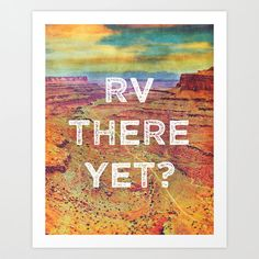 RV there yet? Love t