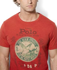 Polo Ralph Lauren Custom-Fit Graphic T-Shirt - T-Shirts - Men - Macy's