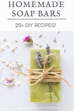 20+ natural homemade soap bar recipes that are great for beginners and experienced soap makers. Plus, I'm sharing a few tips and tricks for how to make natural bar soaps at home. Homemade Soap Bars, Homemade Soap Recipes, Diy Crafts And Hobbies, Soap Maker, Bar Recipes, Healthy Beauty, Beauty Recipe, Home Made Soap, Handmade Soaps