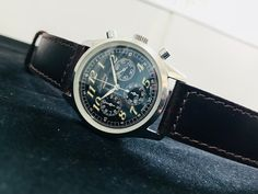 Vintage Breitling Navitimer Premier Chronograph Watch, Stainless Steel, Working