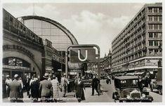 Berlin 1935 Alexanderplatz mit Eingang zur U-Bahn