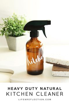 I use this Heavy Duty DIY Natural Kitchen Cleaner with the degreaser steps to clean my stovetop. It works wonders to clean all the grease and it icky, sticky burners.