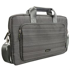 Evecase 17 - 17.3 Inch Classic Padded Briefcase Messenger Bag with Shoulder Strap and Handle for Laptop Notebook Ultrabook Chromebook Computer - Gray - http://www.mansboss.com/evecase-17-17-3-inch-classic-padded-briefcase-messenger-bag-with-shoulder-strap-and-handle-for-laptop-notebook-ultrabook-chromebook-computer-gray/?utm_source=PN&utm_medium=i+love+Cool+Gadgets&utm_campaign=SNAP%2Bfrom%2BMen%27s+Stuff