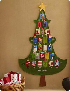 Felt Christmas Tree Advent Calendar I Amazing Advent Calendar Ideas: Early Christmas Gift Your Friends