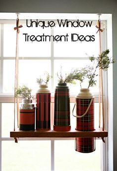 I see old Thermos at estate sales all the time. Never thought of using them as vases. Genius!