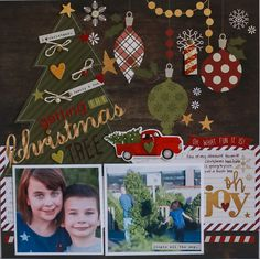 Getting the Christmas Tree **NEW SIMPLE STORIES** - Scrapbook.com - Made with Cozy Christmas collection by Simple Stories.
