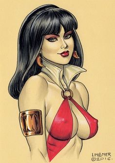 Joseph Michael Linsner Original Art DAWN VAMPIRELLA Hardcover Remark