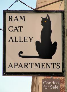 Ram Cat Alley... I love the design here. Find some way to integrate that cat into design.