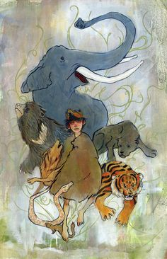 Mowgli the Man Cub by laurenmoyer on Etsy