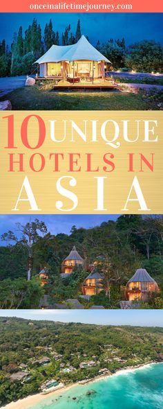 10 of the Most Unique, Magical and Exclusive Hotels in Asia. There are thousands of hotels in Asia, many of them are impressive, unique, fairy tale like or ultra-luxury. Asia is home to Travel+Leisure's Best Hotel in the World and to some of the most expensive luxury hotels. Click through to see my pick of the most unique hotels in Asia, from floating lake palaces to UFO like desert resorts and everything in between. | Once in a Lifetime Journey #uniquehotels #asia #luxury #hotelsandresorts