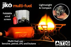 www.atgear.co.za/cooking/10-atg-multi-fuel-stove.html ATG Multi-Fuel Stove  The ATG Multi fuel stove is the one to choose for outdoor adventurers. Strong, reliable and versatile. Featuring self-cleaning shaker jet technology, it burns Benzine, unleaded auto fuel, LPG and comes standard with a Butane / Propane attachment.    Seasoned travellers have come to rely on its easy-to-use design, easy maintenance  and durability.
