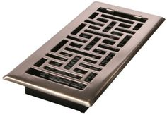 Decor Grates AJH410NKL 4Inch by 10Inch Oriental Floor Register Brushed Nickel Color Brushed Nickel Finish Model AJH410NKL Tools  Hardware store >>> You can find out more details at the link of the image.
